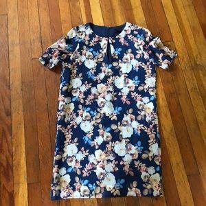 JCrew floral print shift dress 00